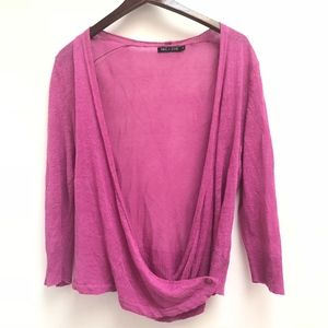NIC + ZOE Button Wrap sweater size S